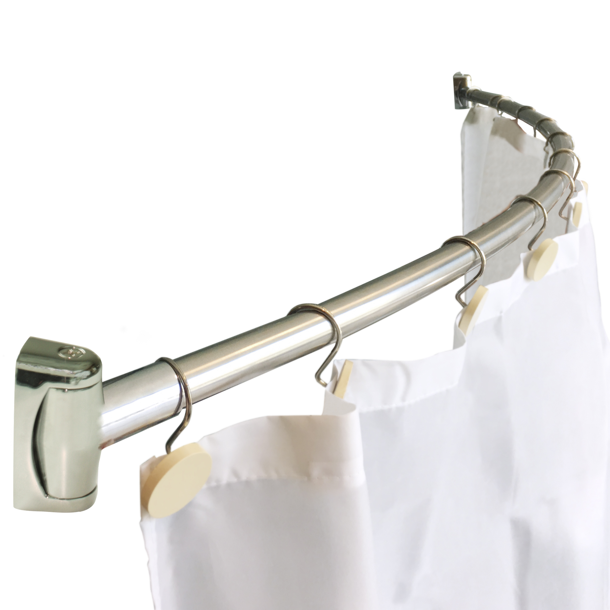 Stainless Steel Curved Shower Curtain Rod Plutoninc