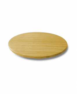 21-Inch Bamboo Lazy Susan Turntable Rotating Tray